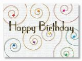 Executive Birthday Cards Starry Swirls Happy Birthday Cards From Hrdirect