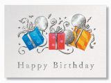 Executive Birthday Cards Trio Of Gifts Business Birthday Cards From G Neil