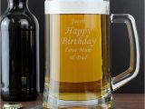 Expensive 50th Birthday Gifts for Him 50th Birthday Personalised Glass Tankard Find Me A Gift