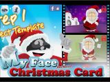 Face In Hole Birthday Card Animated Christmas Cards with Your Face