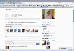 Facebook Birthday Invites Party Invitations