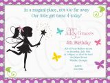 Fairy Birthday Invitation Wording Fairy Party Invitations Template Best Template Collection