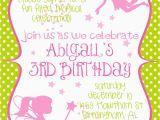 Fairy Birthday Invitation Wording Fairy Princess Birthday Party Invitation In by