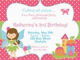 Fairy Birthday Invitation Wording Fairy Princess Party Birthday Invitation by thebutterflypress