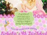 Fairy Birthday Invitation Wording Flower Fairy Birthday Party Invitation 5×7 Digital File