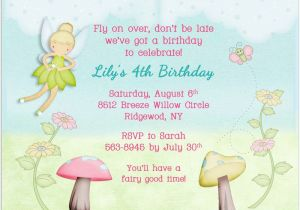 Fairy Birthday Invitation Wording Free Printable Tinkerbell Baby Shower