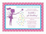 Fairy Birthday Invitation Wording Little Fairy Silhouette Birthday Party Invitation Choose Fairy