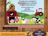 Farm First Birthday Invitations Farm Animal Birthday Invitation Barnyard Birthday Invite