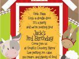 Farm First Birthday Invitations Farm Animal Birthday Party Invitations