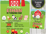 Farm First Birthday Invitations Farm Birthday Invitation Barn Wood Personalized D1