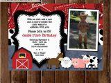 Farm First Birthday Invitations Farm Birthday Invitation Farm Animals Birthday Party