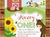 Farm First Birthday Invitations Farm First Birthday Party Invitation Farm Birthday