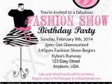 Fashion Show Birthday Party Invitations 7th Birthday Invitation theme Ideas Party Xyz