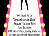 Fashion Show Birthday Party Invitations Fashion Show Birthday Party Invitation Black by