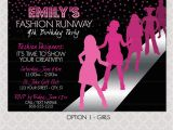 Fashion Show Birthday Party Invitations Fashion Show Birthday Party Invitations Best Party Ideas