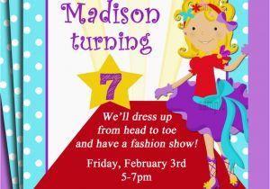 Fashion Show Birthday Party Invitations Fashion Show Birthday Party Invitations Cimvitation