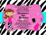 Fashion Show Birthday Party Invitations Fashion Show Birthday Party Invitations Ideas Bagvania
