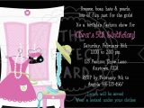 Fashion Show Birthday Party Invitations Fashion Show Dress Up Birthday Party Invitation