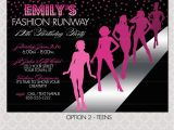 Fashion Show Birthday Party Invitations Fashion Show Invitation Project Runway Inspired Birthday