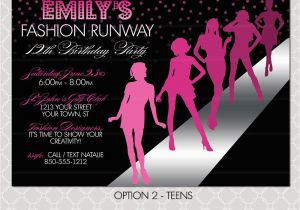 Fashion Show Birthday Party Invitations Fashion Show Invitation Project Runway Inspired Birthday
