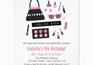 Fashion Show Birthday Party Invitations Makeup Fashion Show Birthday Party Invitations Zazzle Com