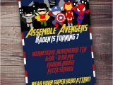 Fast Birthday Invitations Fast Customized Superhero Birthday Invitation Avengers
