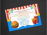 Fast Birthday Invitations Fast Food Birthday Invitation Mcdonald 39 S Inspired