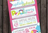 Fast Birthday Invitations Fast Ship Pool Party Invitation Customized Wording Included