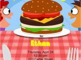 Fast Birthday Invitations Hamburger Fast Food Birthday Party Invitation Printable