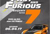 Fast Birthday Invitations Race Car Fast and Furious Birthday Invitation Boy
