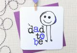 Father to Be Birthday Card 39 Dad to Be 39 New Baby Greeting Card by Parsy Card Co