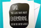 Father to Be Birthday Card Dad Birthday Card Dad 39 S Always Right Birthday Folksy