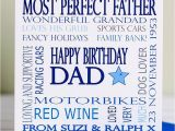 Father to Be Birthday Card Personalised Dad Birthday Card by Lisa Marie Designs