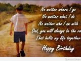 Father to son Happy Birthday Quotes Happy Birthday Dad Quotes Sayings