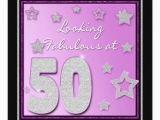 Female 50th Birthday Invitations 50th Birthday Invitation Female Stars Zazzle