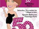 Female 50th Birthday Invitations Women 39 S 50th Birthday Party Invitation Illustrated From