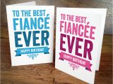 Fiance Birthday Cards for Him Birthday Card for Fiancee or Fiance by A is for Alphabet