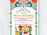 Fiesta themed Birthday Invitations Kids Fiesta Birthday Invitation Children 39 S Mexican Fiesta