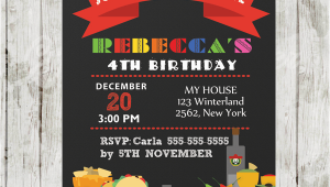 Fiesta Themed Birthday Invitations