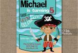 Fifth Birthday Party Invitation 5th Birthday Invitation Pirate Birthday Invitations
