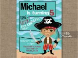 Fifth Birthday Party Invitation 5th Birthday Invitation Pirate Birthday Invitations