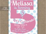 Fifth Birthday Party Invitation 5th Birthday Invitations Printable Fifth Birthday Invitation