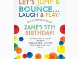 Fifth Birthday Party Invitation Bouncy Ball Birthday Invitation 5th Birthday Party