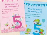 Fifth Birthday Party Invitation Personalised Fifth Birthday Party Invitations by Made by