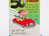 Fiftieth Birthday Cards 50th Birthday Card Red Convertible Only 59p