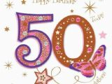 Fiftieth Birthday Cards Happy 50th Birthday Greeting Card by Talking Pictures Cards