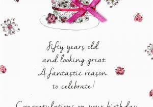 Fifty Birthday Cards Female 50th Greeting Card Love Kates