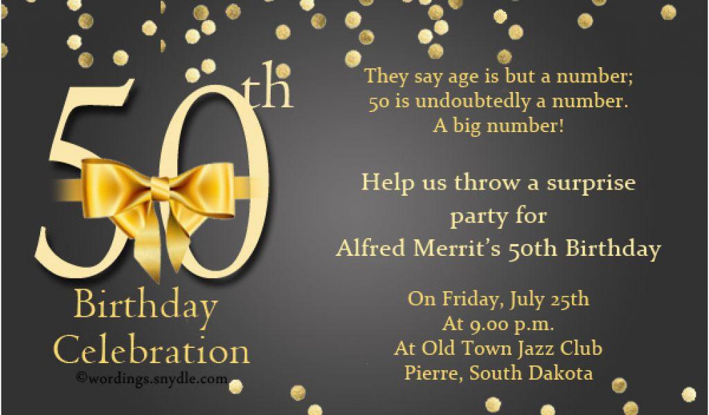 Fifty Birthday Invitation Wording 50th