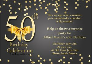 Fifty Birthday Invitation Wording 50th Samples Wordings And