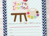 Fillable Birthday Invitations Free Fill In Art Painting Party Invitations Printable Kids Birthday